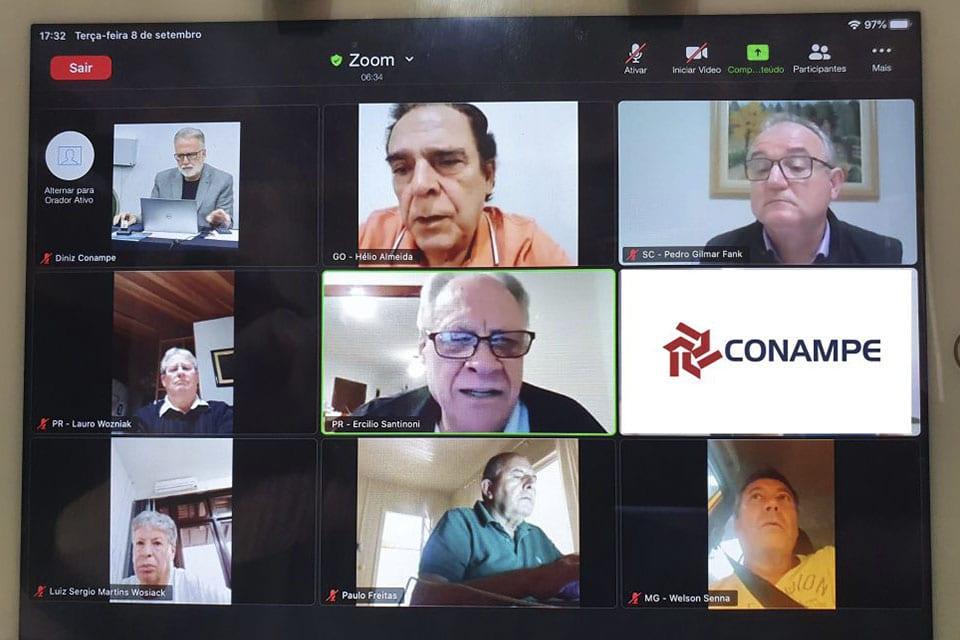 reunião da diretoria da Conampe